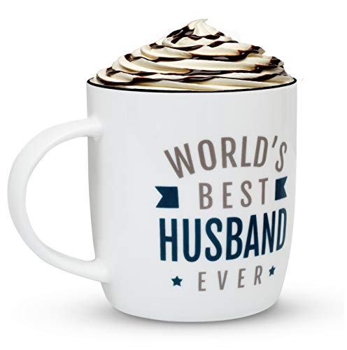 Gifffted Worlds Best Husband Ever Coffee Mug, Funny Greatest Husband Gifts Ideas From Wife, Love Gifts For Husbands Anniversary, Men Gift, Birthday Mugs, Valentines, 13 Oz Cup (Best Gift Ever For Husband)