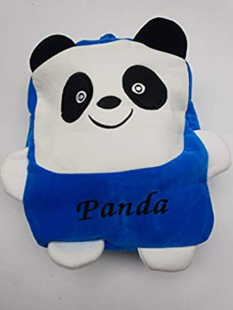PRACHI TOYS Kids School/Nursery/Picnic/Carry/Travelling Bag - 2 to 5 Age (SkyBlue Panda)
