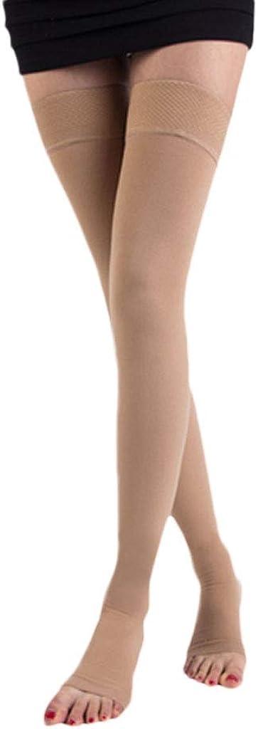DONGBALA Varicose Stockings Medical Female Nursing Calf Treatment Type Secondary Pressure Elastic Male antithrombotic varicose Socks,CFLESH,L 41AmodE2euL