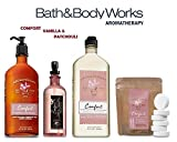 Bath and Body Works VANILLA & PATCHOULI Deluxe Spa Set Aromatherapy COMFORT ~