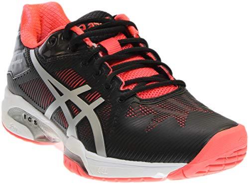 ASICS Women's Gel-Solution Speed 3 Tennis Shoe, Black/Silver/Diva Pink, 10.5 M US