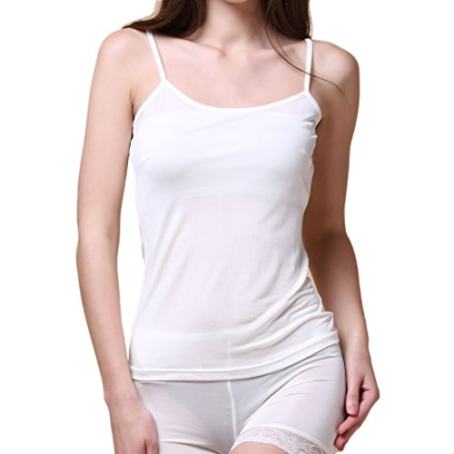 Price comparison product image Paradise Silk Pure Silk Knitted Women's Camisole Tank Top[USM,White]