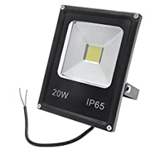 uxcell® 20W Super Bright Outdoor LED Flood Light Waterproof Lamp Outdoor Spot Light Security Lights Floodlight Daylight Pure White 1800lm 6500K, 200W Halogen Bulb Equivalent AC 85-265V