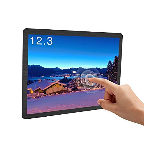Portable Monitor 12.3 inch Touch Screen Monitor Resolution 1600X1200 Built-in Speakers Display Screen Ratio 4:3 IPS with VESA for PS3 PS4 Xbox Ns xbox360 PC MAC Raspberry Pi FPV