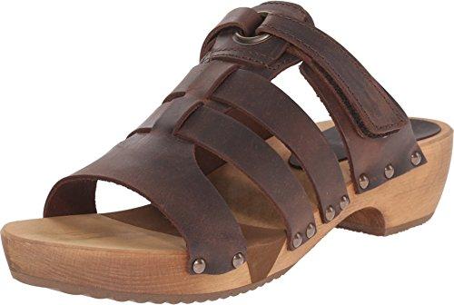 Sanita Wood - Fatu Round Flex Sandal Antique Brown in Oil ()