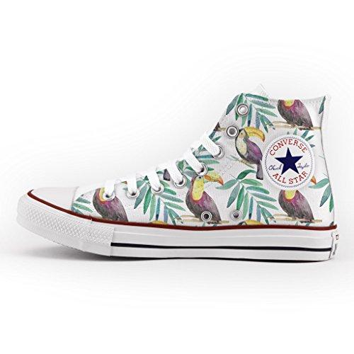 Converse All Star Personnalisé et Imprimés - chaussures à la main - produit Italien - Mini Toucans
