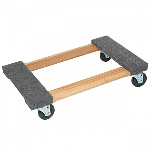 MT10003 - MONSTER TRUCKS MT10003 Wood 4-Wheel Piano Carpeted Dolly