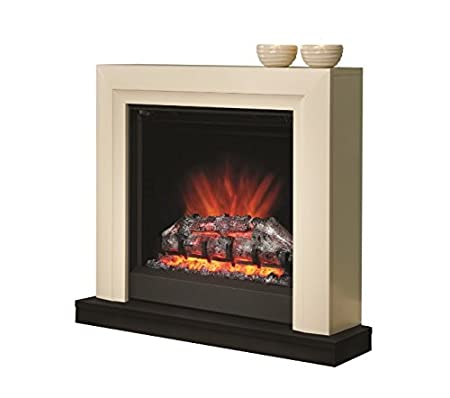 classy ivory electric fireplace insert thermostat control rh amazon co uk realistic looking electric fireplace insert Most Realistic Flame Electric Fireplace
