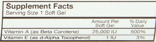 Carlson Labs Super Beta Carotene Antioxidant 100 Softgels- 25000 IU16 MG Discount
