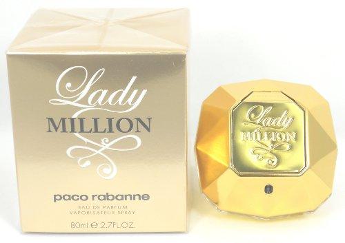 Lady Million de Paco Rabanne Eau De Parfum Spray for Women, 2,70 once