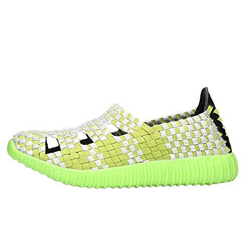 Clearance Sale Shoes For Women ,Farjing Fashion Women Flats Shoes Woven Shoes Casual Running Shoes Non Slip Shoes (US:6.5,Green) by Farjing (Image #5)