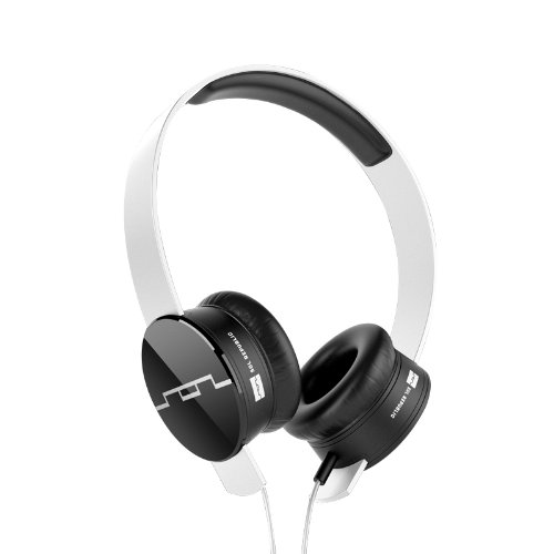 SOL REPUBLIC 1211-02 Tracks On-Ear Interchangeable Headphones with 3-Button Mic and Music Control - White (V8 Sol Tracks Republic Headphones)