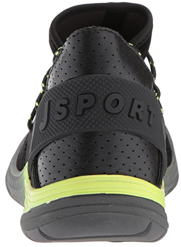 JSport von Jambu Damen Catskill Fashion Sneaker Schwarz / Neon Gelb