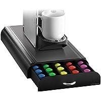 Mind Reader 50 Capacity Nespresso Capsule, 24 Capacity Vertuoline Coffee Pod Storage Drawer Organizer, Black