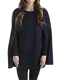 Womens Martha Wool Textured Cape Coat