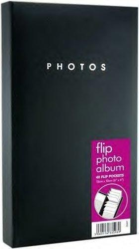 PACK OF 3 - Flip Black Photo Album - 40 POCKETS HOLDS 80 6