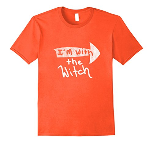Mens Men's Halloween Couples Costume Shirt I'm With The Witch Large Orange (Cheap Couple Halloween Costumes 2017)