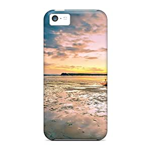 5c Scratch-proof Protection Cases Covers For Iphone/ Hot Boats At Low Tide Phone Cases