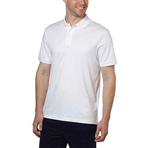 Kirkland Signature Men's Pima Cotton Polo (Large, White)