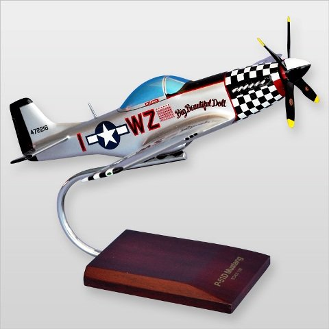 Mastercraft Collection MCP51BBDW P-51D Mustang Big Beautiful Doll Wood Desktop - Beautiful Mustang Doll P-51d Big