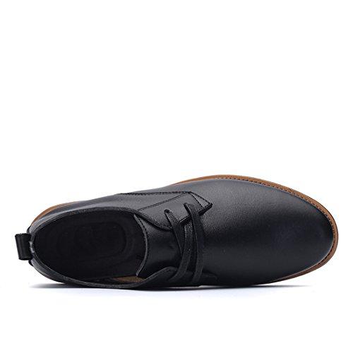 Minitoo LHUS-LH1698, Chaussures de Ville à Lacets Pour Homme - Noir - Noir, 39 EU