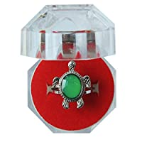Acchen Mood Ring Sea Turtle Changing Color Emotion Feeling Finger Rings with Box (Turtle)