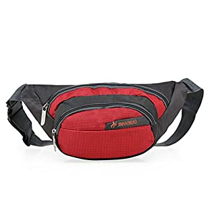 OpetHome Outdoor Sports Multi-purpose Dumpling Shaped Waist Fanny Pack Red