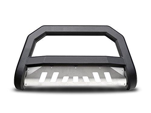 (Armordillo USA 7169906 AR Series Bull Bar Fits 2007-2014 Toyota FJ Cruiser - Matte Black W/Aluminum Skid Plate)