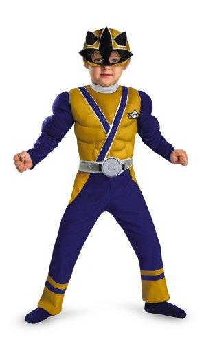 Morris Costumes Gold Ranger Samurai Muscle -