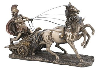 (Sale - The Perfect Gift - Roman Chariot Statue)