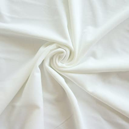 Amazon com: White Swimsuit Lining Fabric, 1 Yard