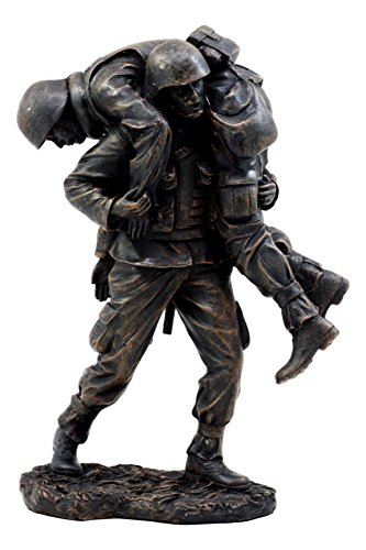 - Ebros Gift Hacksaw Ridge Military Soldier Carrying A Wounded Brother Figurine 7.25