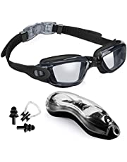 UBLA Swim Goggles Anti Fog Men Women Swimming Pool Googles UV Protection No Leaking Water Swimming Mask Clear Vision for Adult Ladies Boys Girls with Storage Case