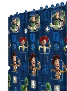 All New Fabric Shower Curtain Set Disney 12 Matching Hooks (Toy Story)