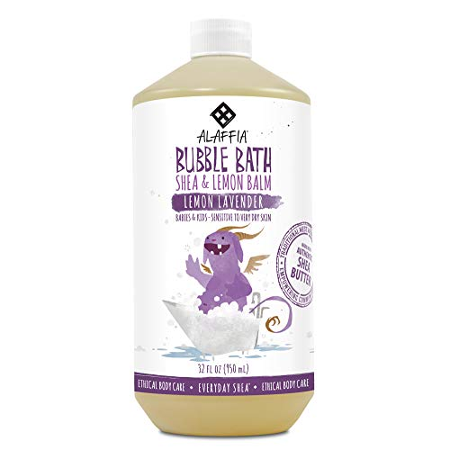 Alaffia, Everyday Shea Bubble Bath for Babies & Kids, Gentle for Sensitive to Very Dry Skin Types, Lemon Lavender, Ethically Traded, Non-GMO, 32 oz - Childrens Bubble