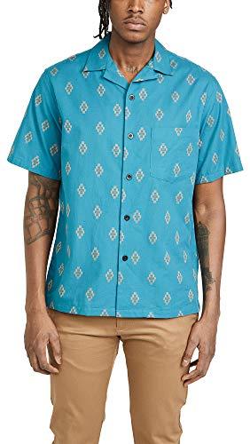 Portuguese Flannel Men's Vince '90s Camp Shirt, Blue, Medium ()