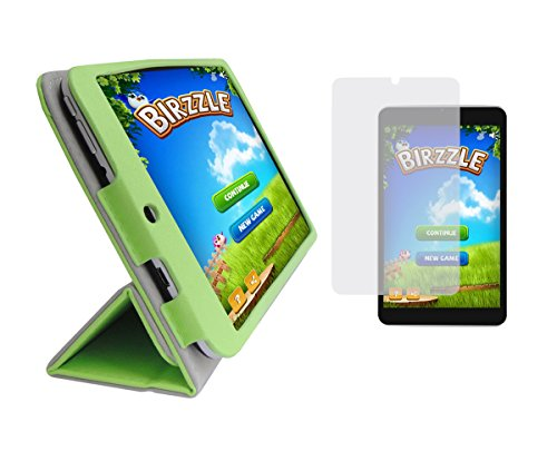 iShoppingdeals - Lawn Green Folding Folio Cover Case and Clear Screen Protector for Digital2 8