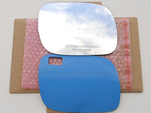 (New Replacement Mirror Glass with FULL SIZE ADHESIVE for 2004-2006 VOLKSWAGEN TOUAREG Passenger Side View Right RH)