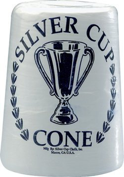Silver Cup Case Cone Talc Chalk - Case of 6