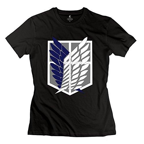Woman's Scouting Legion Crest T-Shirt L Black Slim Fit Quotes Apparel