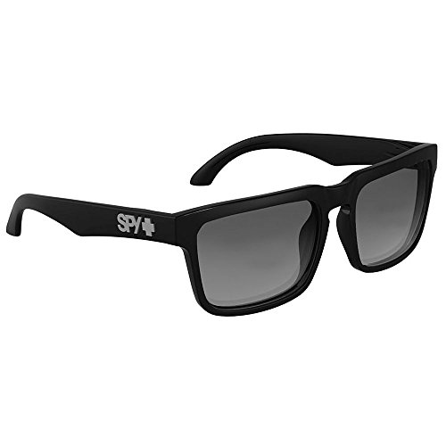 Spy Optic Helm Sunglasses Gloss Black w/ Grey Green Lens + - Glasses Spy Helm