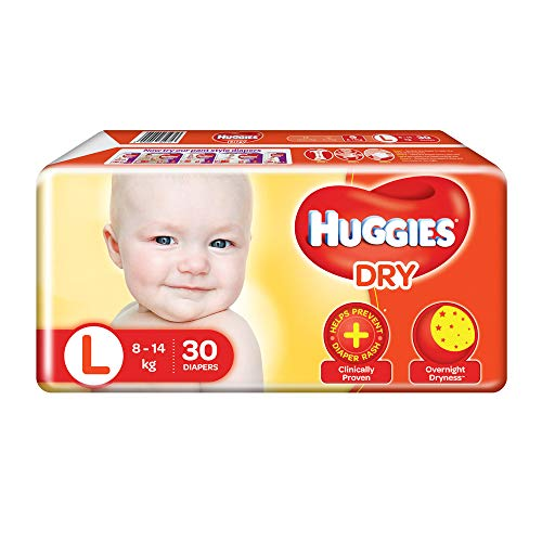 Huggies Dry Taped Diapers Large Size 30 Pieces