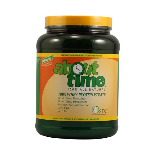 2 Packs of About Time Whey Protein Isolate Unflavored - 2 Lbs by About Time