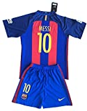 Messi #10 FC Barcelona 2016-2017 Youths Home Kit Shirt & Shorts (7-8 Years Old)