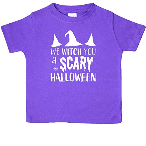 inktastic - We Witch You a Scary Halloween Baby T-Shirt 6 Months Purple -