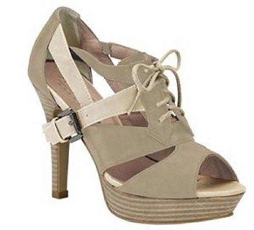 Best Connections Sandalette - Sandalias de Vestir de material sintético Mujer marrón - Marron - Taupe