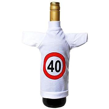 Scherzartikel Mini Flaschen T-Shirt 40.Geburtstag Verkehrsschild ...