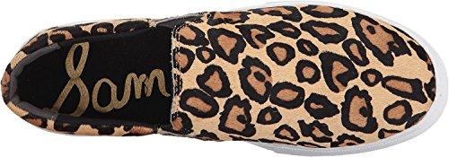 Sam Edelman Damen Lacey Fashion Sneaker Neue Nude Leopard Leopard Brahma Haar
