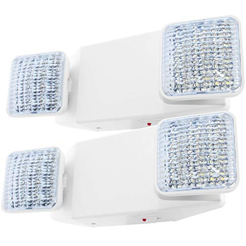 LFI Lights - 2 Pack - UL Certified - Hardwired LED Emergency Light Standard - ELW2x2 ()