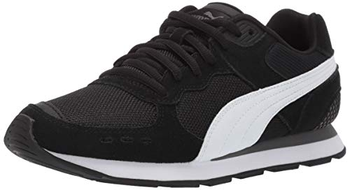 PUMA Women's Vista Sneaker, Black White-Charcoal Gray, 8 M US (Best Puma Running Shoes)